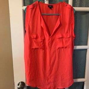 Mossimo orange tunic